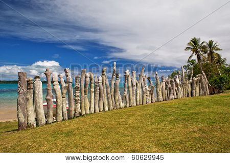 Memorial to missionaries on a remote Pacific Island