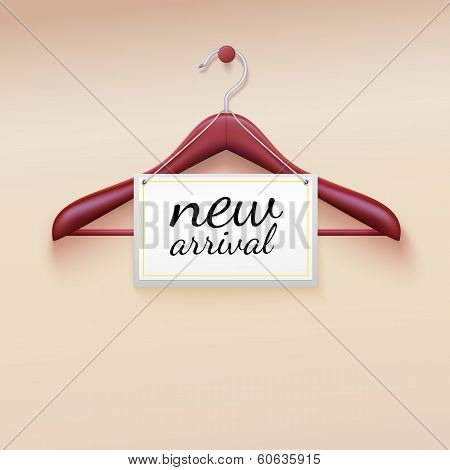 Clothes hanger with new arrival tag