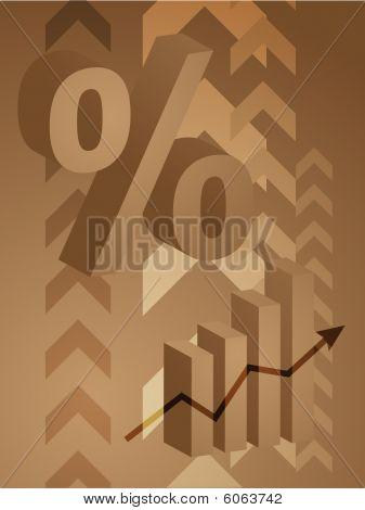 Percent Symbol Illustration