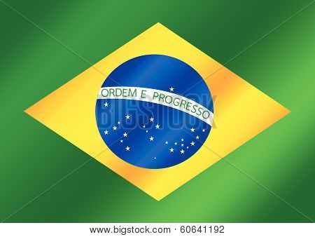 Brazil map and flag theme idea design
