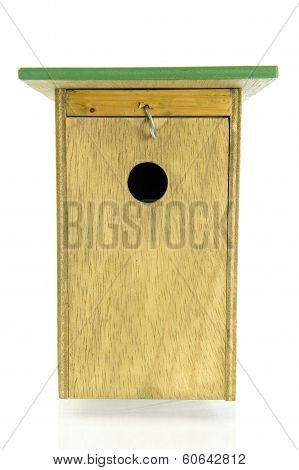 Wooden Bird House Front View