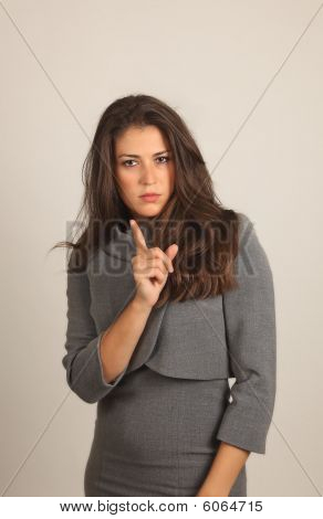 Girl Pointing Her Finger