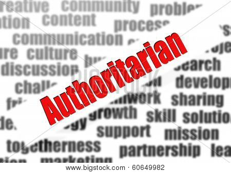 Authoritarian Word Cloud