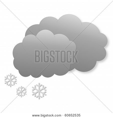 Snowing day as weather icon