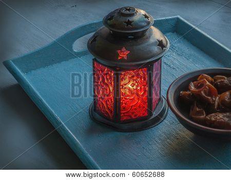 Ramadan Lamp And Figs Still Life