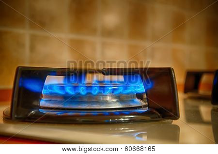 Gas On Kitchen