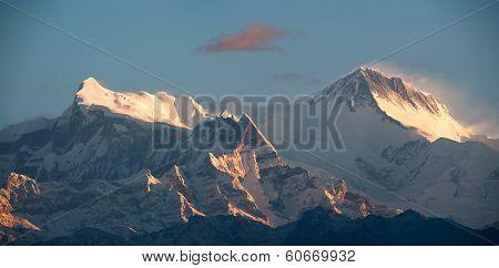 Annapurna IV and II peaks