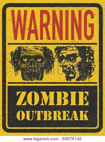 Zombie Outbreak. Hand drawn. Vector Eps 8