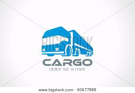 Cargo Truck vector logo design template. Delivery service concept icon. Transportation Business.