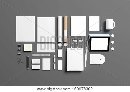 Blank Corporate Identity Set Template