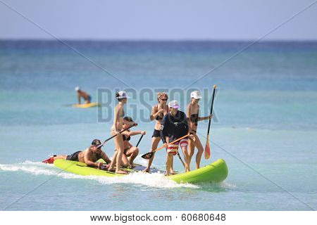 EXTREME TANDEM STAND UP PADDLE BOARD SURFING