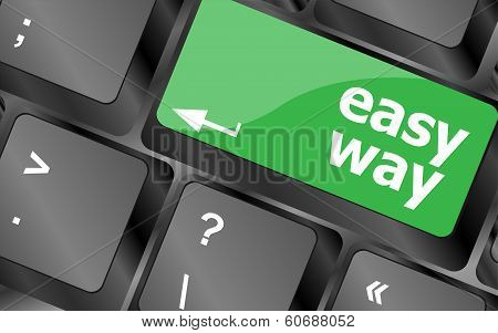 Easy Way Green Button On The Keyboard Close-up