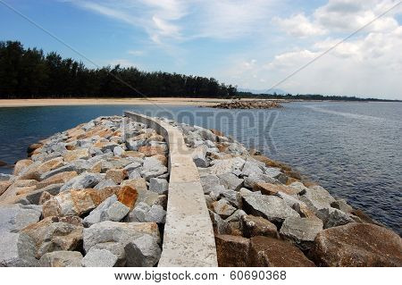 Coast Defences At Thailand