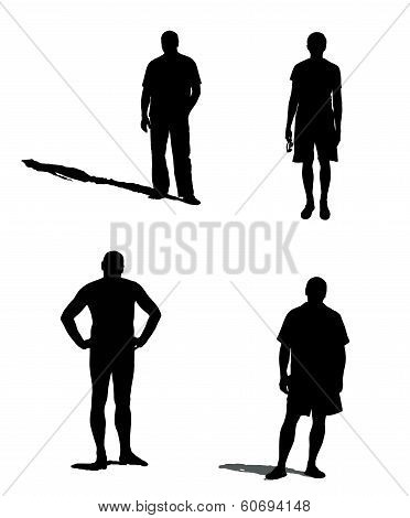 silhouettes of a mans