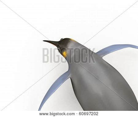 Emperor penguins , cartoon penguins , 3d render penguins