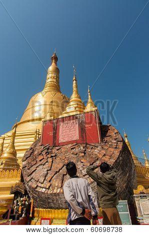 Bago, Myanmar-february 21,2014: Shwemawdaw Pagoda,