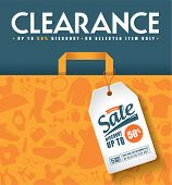 stock photo of watch  - Clearance Sale Poster - JPG