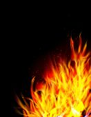 pic of blast-furnace  - Fire background - JPG