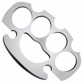 image of brass knuckles  - Steel Knuckles used in fights as edged weapons - JPG