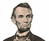 President Abraham Lincoln Portrait (clipping Path)