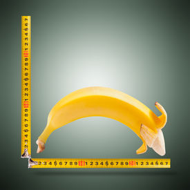 pic of kamasutra  - Large banana and measuring tape as image of man - JPG