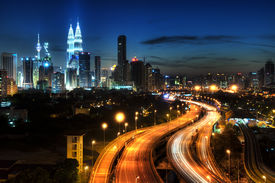 image of kuala lumpur skyline  - Kuala Lumpur is the capital city of Malaysia - JPG