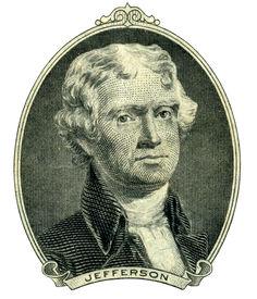 stock photo of two dollar bill  - Portrait of former U - JPG