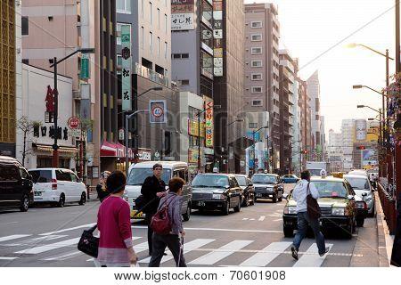 Street life in Asakusa,Japan