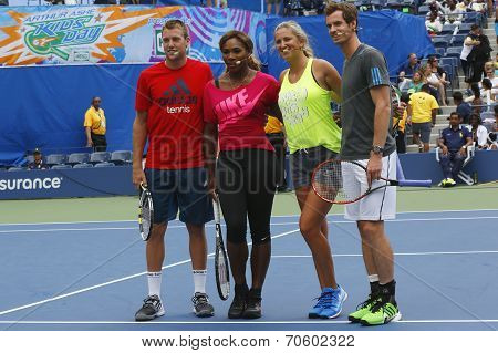 Jack Sock, Serena Williams, Victoria Azarenka and Andy Murray participated at Arthur Ashe Kids Day 2