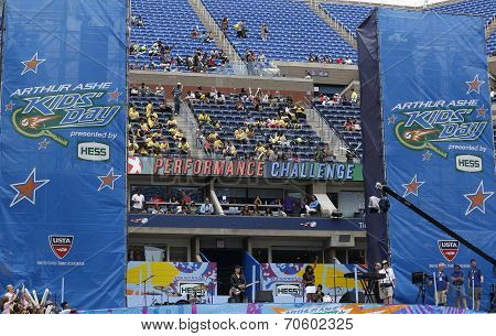 Arthur Ashe Stadium during  Arthur Ashe Kids Day 2014 at Billie Jean King National Tennis Center
