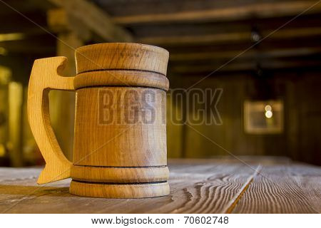 Wooden Mug On A Table