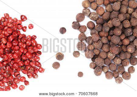 Closeup of a spicy hot peppercorns.