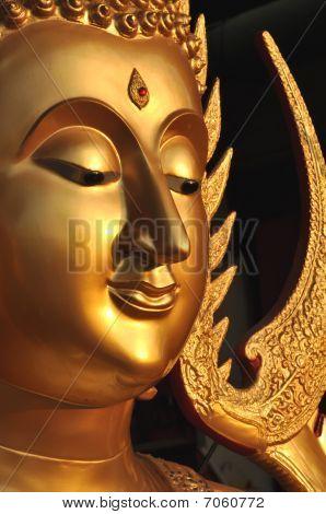 Buddha Face Brass Aura