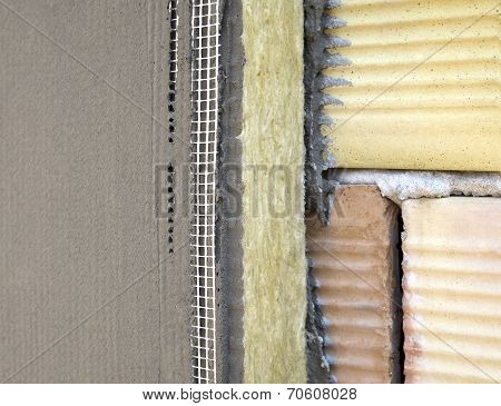 Insulation On A Brick Wall
