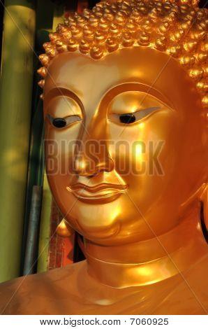Buddha Face Sine Brass