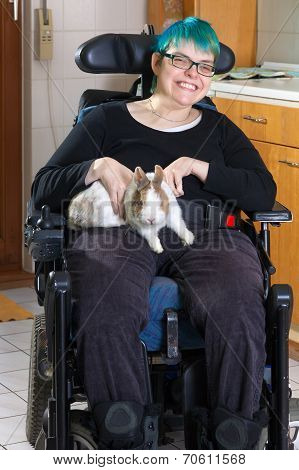 Young Woman With Infantile Cerebral Palsy