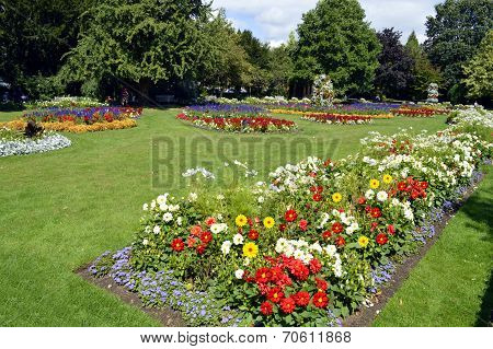 Jephson Gardens in Leamington Spa, Warwickshire