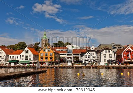 Skagenkaien Quay Of Stavanger, Norway