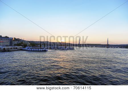 View over seaside in istanbul.