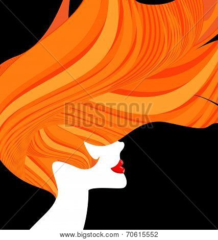 red-haired head of a woman