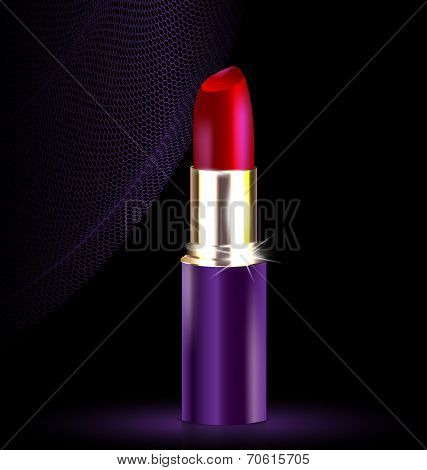 lipstick in black-purple
