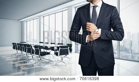 Businessman in modern office