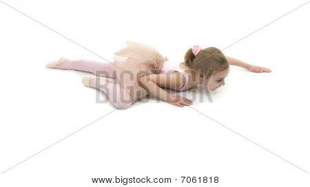Little Girl Studing  Balet