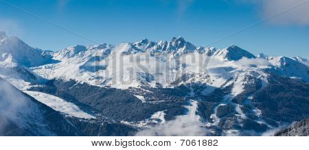 View On The Courchevel, Panorama