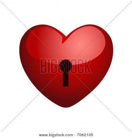 heart on a lock