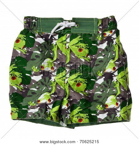 Bathing Shorts On A White Background.