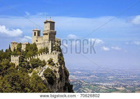view of san marino - rocca della guaita