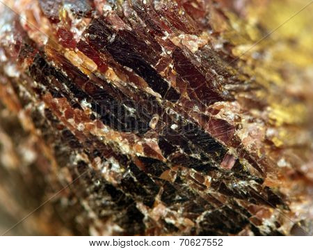 Abstract Fantastic Background From A Garnet Mineral, Magic Of A Stone