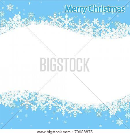 Illustration Snowflake, Christmas background. Vector.