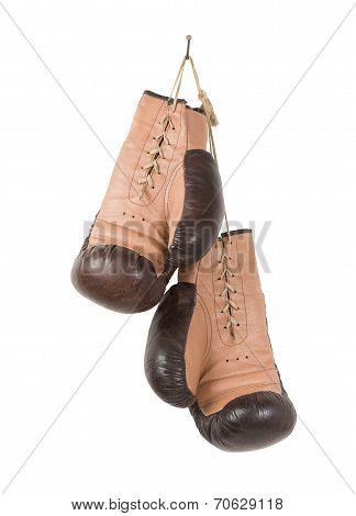 Vintage old boxing gloves